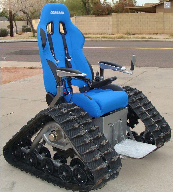 silla de ruedas oruga