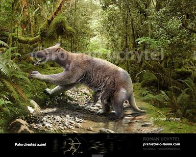 animales australianos extintos Palorchestes