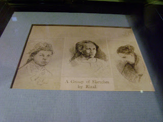 a group of sketches by Rizal