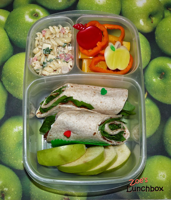 Cajun turkey wrap Easylunchboxes Bento Lunch