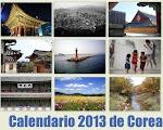 Venta del calendario de Corea 2013
