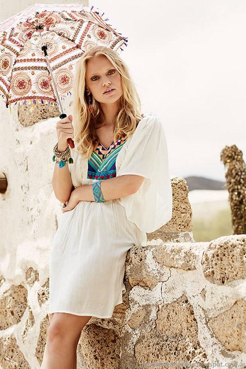 Moda verano 2015 túnicas y vestidos India Style 215.