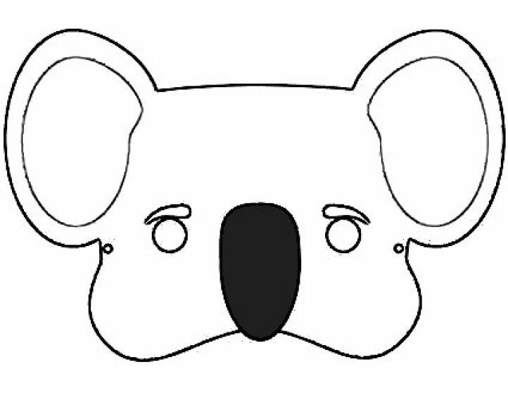 Máscara De Koala Para Imprimir En Color
