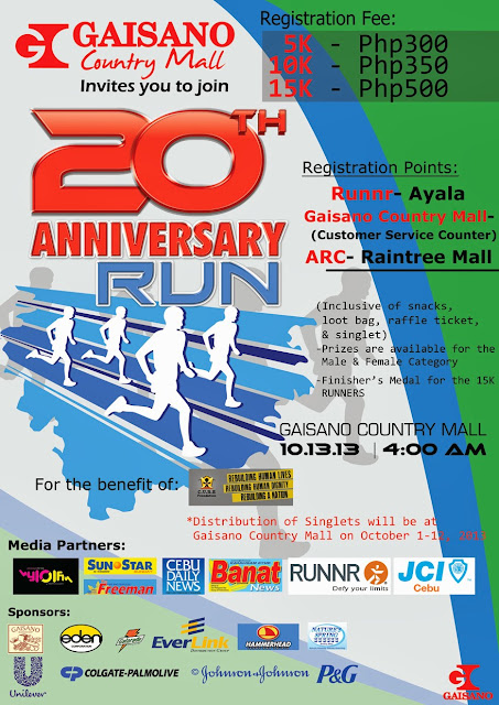 The Gaisano Country Mall 20th Anniversary Run