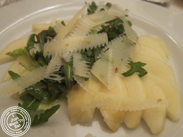 Image of Pear carpaccio at Vasco and Piero's Pavilion Italian restaurant in London, England