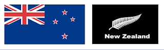 New Zealand traditional flag and proposed new black flag