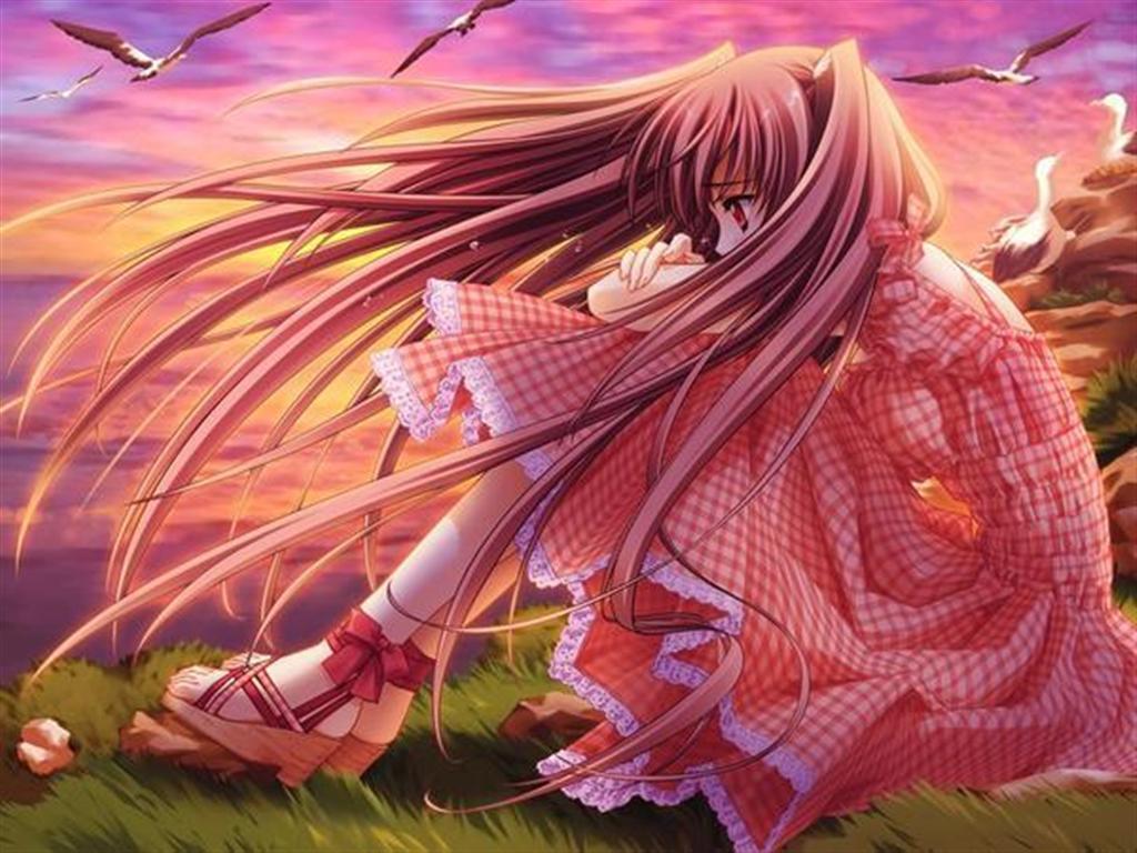 Sad Girl Crying Anime