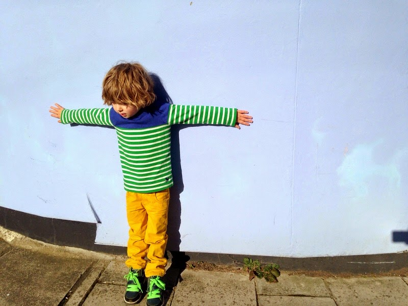 F wears mini boden with bright colours