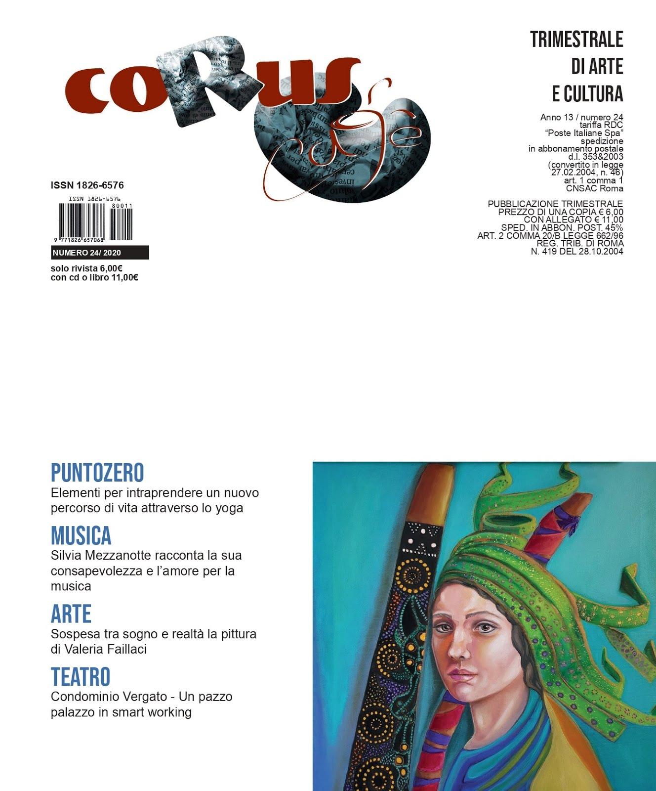 In uscita il numero di ottobre della rivista d'arte Chorus Café