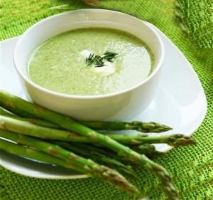 çorba tarifi,diyet çorba, kuşkonmaz çorba