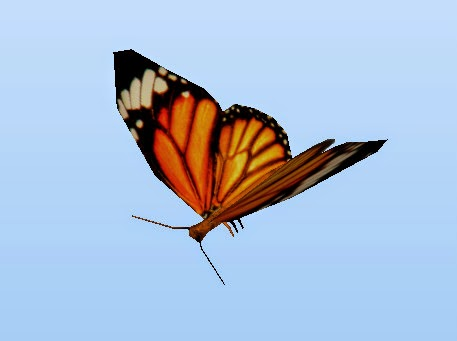 three.js butterfly