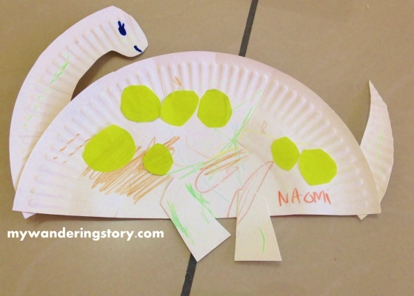 Making Paper Plate Dinosaurs & The Wandereru0027s Journal: Making Paper Plate Dinosaurs