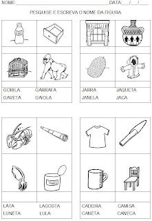 Escreva o nome da figura. Silábica com valor sonoro - Alfabetização.