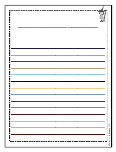 Free Printable Lined Writing Paper for Kids