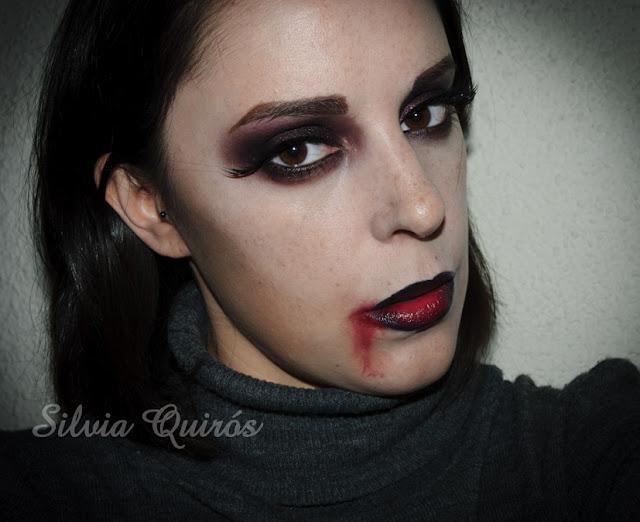 Maquillaje Halloween 4: Vampiresa sexy, Halloween Makeup 4: Sexy vampire, efectos especiales, special effects, Silvia Quirós