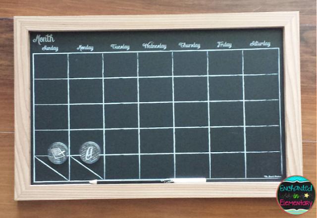Chalkboard Calendar Walmart : Monday made it calendar notebooks labels