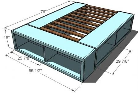 Hard to love diy bed frame with storage - Simple twin bed frame plans ...