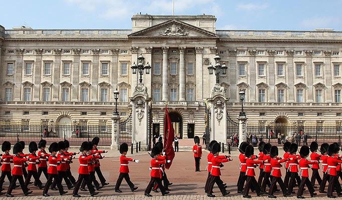 El Palacio de Buckinghan y el cambio de guardia en Londres