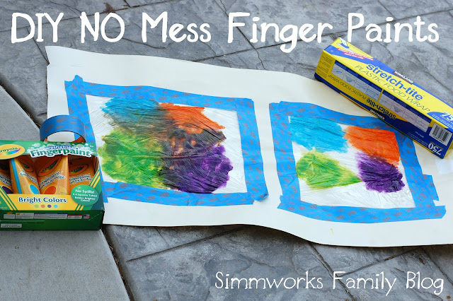 DIY No Mess Finger Paint
