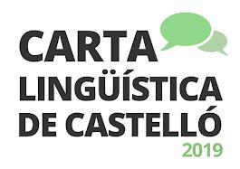 CARTA LINGÜÍSTICA DE CASTELLÓ 2019