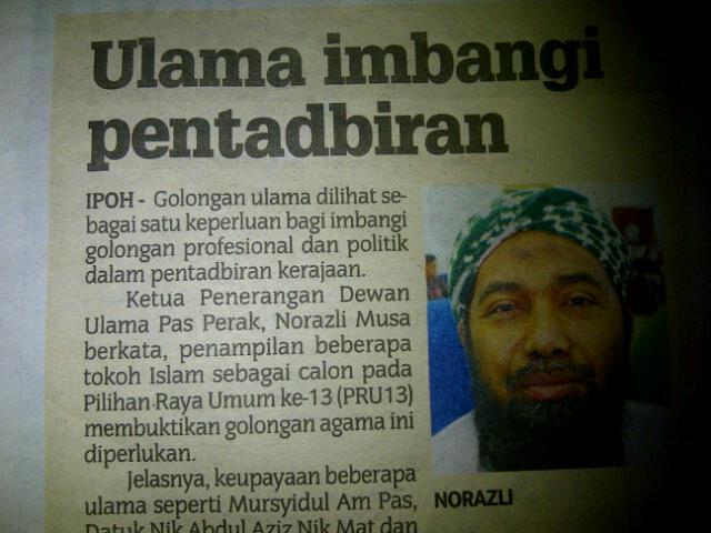 Ulama Imbangi Calon PRU13