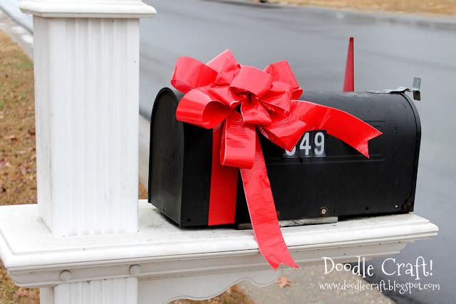 http://www.doodlecraftblog.com/2012/11/duck-tape-holiday-mailbox-bow.html