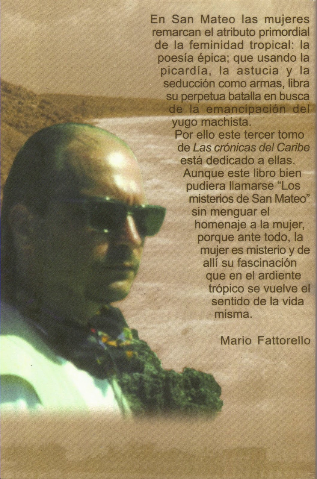 Contraportada de Las mujeres de San Mateo. Crónicas del Caribe 3. Mario Fattorello.