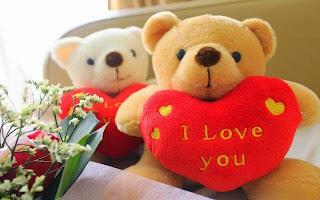 Boneka beruang love 8