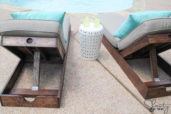 diy tumbonas de madera mobiliario terraza - Tumbonas De Madera