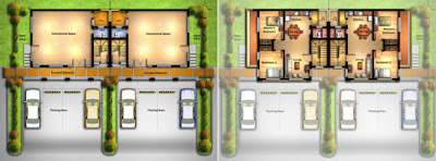 Shop House Floor Plan at Villa Montserrat Taytay