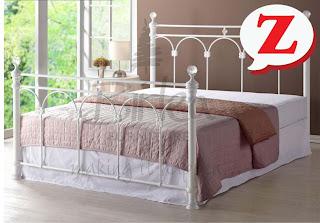 Birlea Shanghai Bed, 15% off, cream metal bed