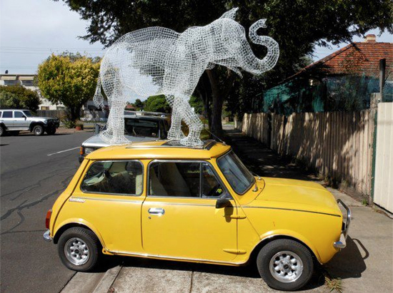 Safari Fusion blog | Wire animal sculptures | Wire animal art by Melbourne's Tom Ripon