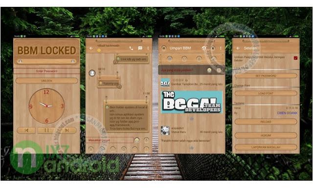 BBM Mod Thema Wood Terbaru 2.11.0.18 Apk