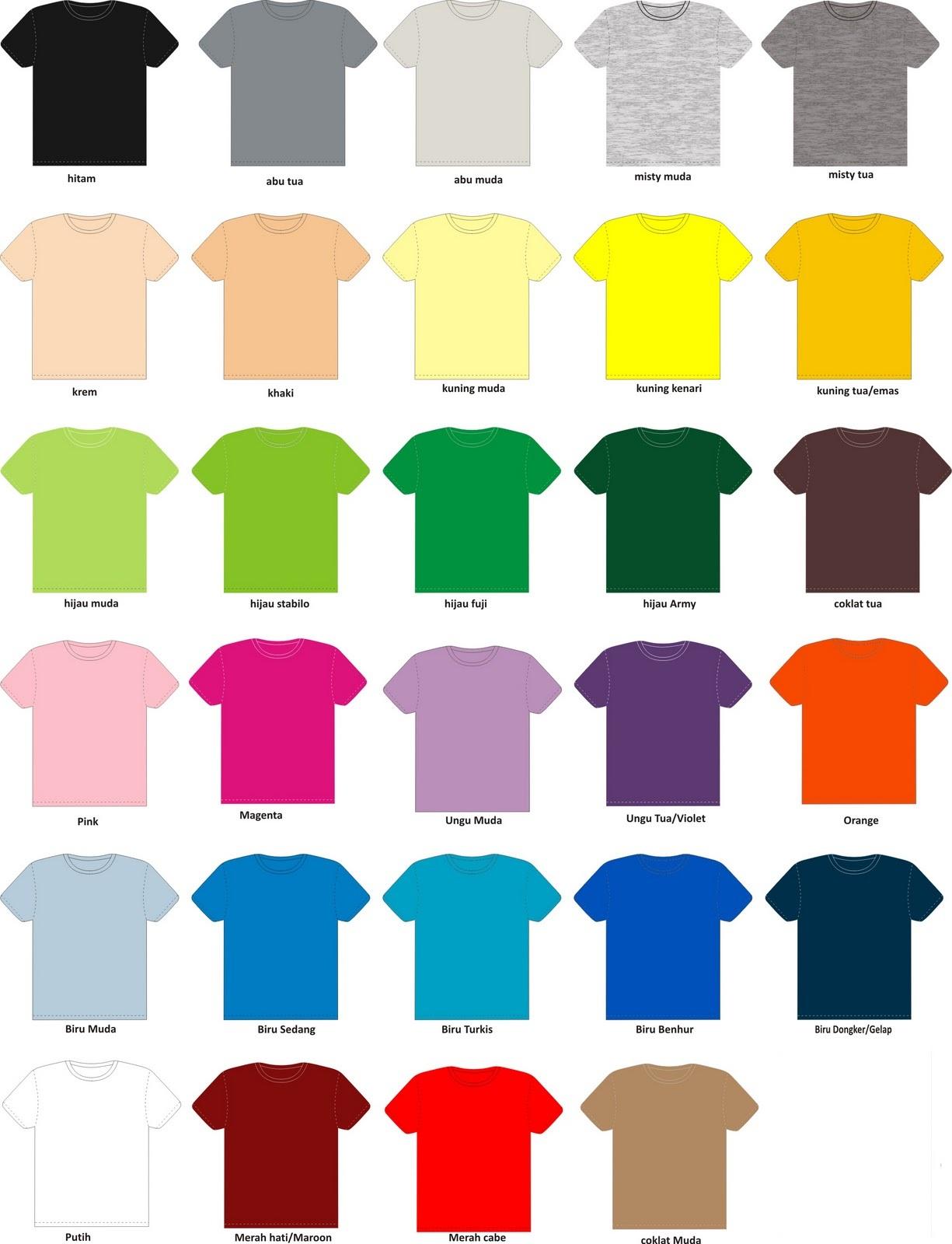 toko kaos tangerang warna kaos