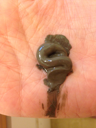 Adovia Dead Sea Mud Mask squirted into my hand