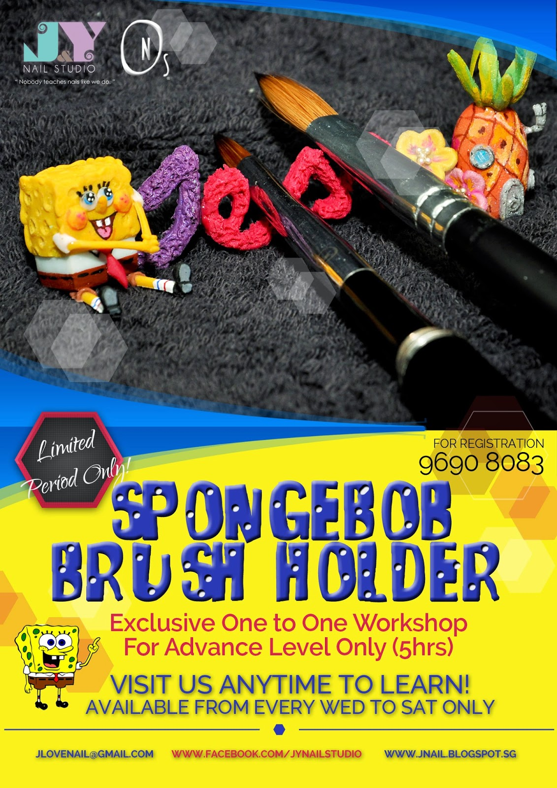 Spongebob brush holder workshop