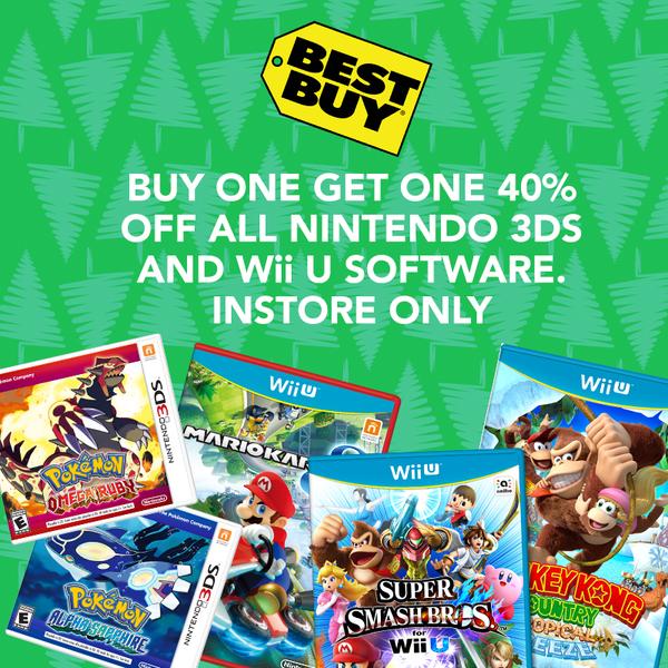 best buy sale nintendo 40% off 3ds wii u games