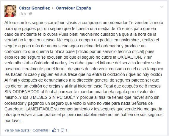Harto De Carrefour Contratar Un Seguro Para Electronica