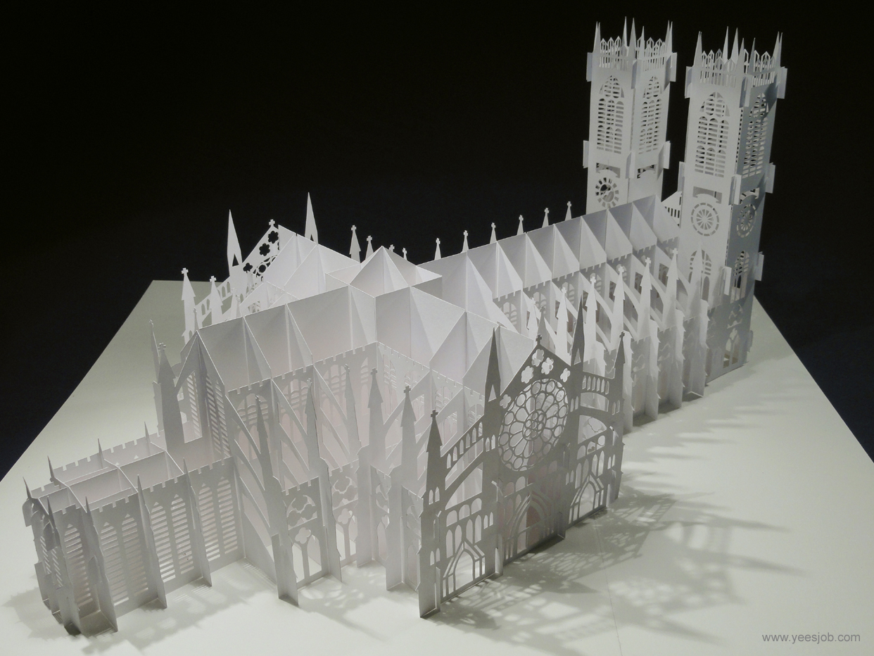 The kingdom of origami architecture the westminster abbey for Architecture origami