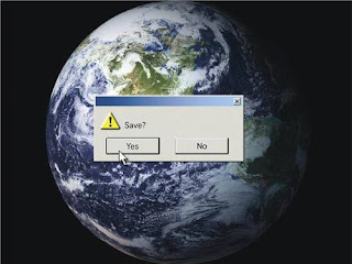 The Earth -- with Save? Decision box