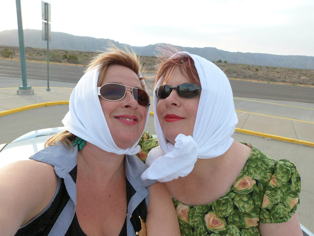 Thelma and Louise aka msmarmitelover and her sister in New Mexico