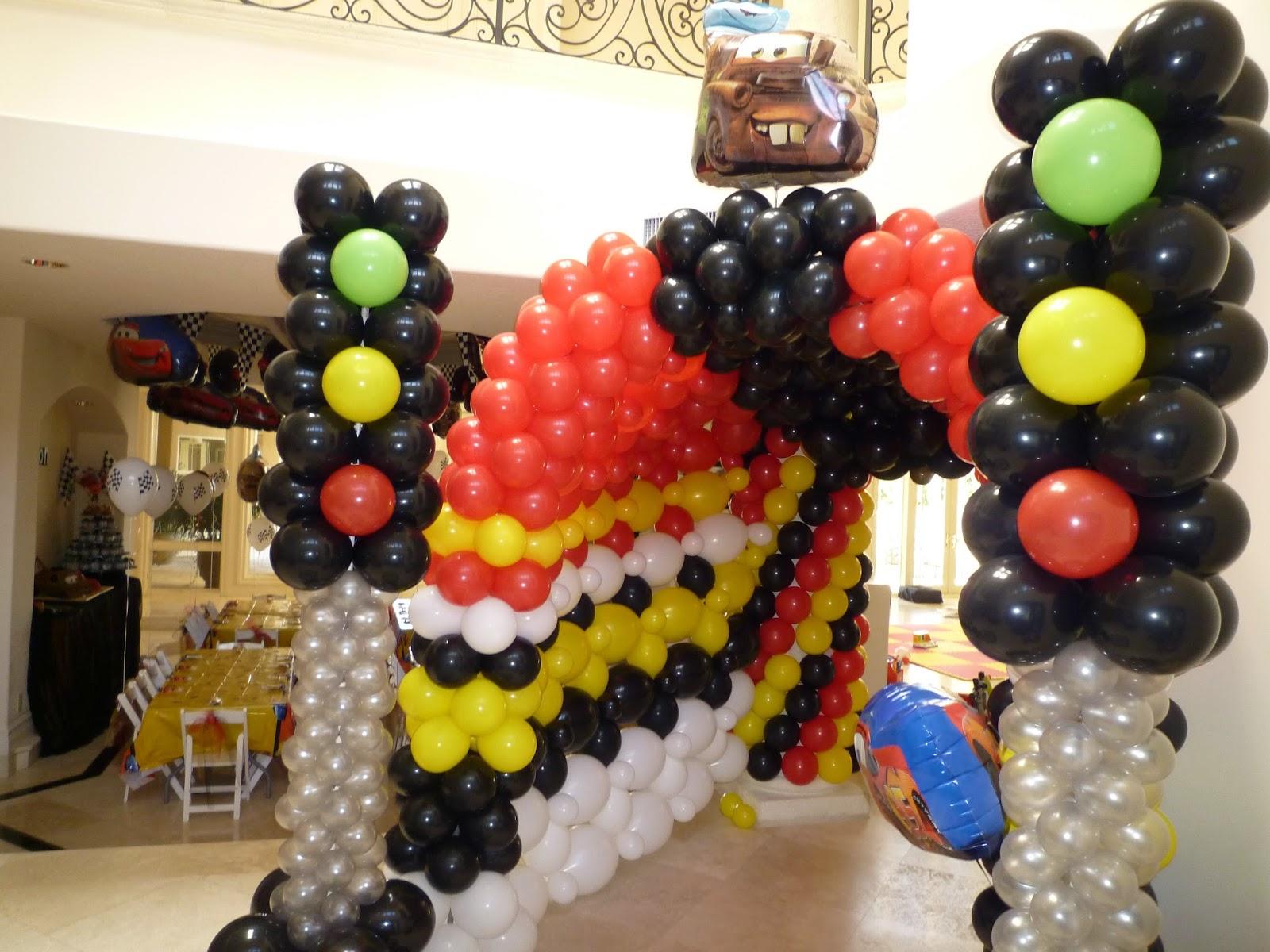 DreamARK Events Blog: Disney Cars Theme Decor with cars balloon ...
