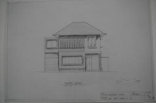 Sketsa Rumah Minimalis samping