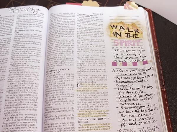 Journaling Bible | Walking in the Spirit