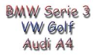 BMW Serie 3, Volkswagen Golf y Audi A4