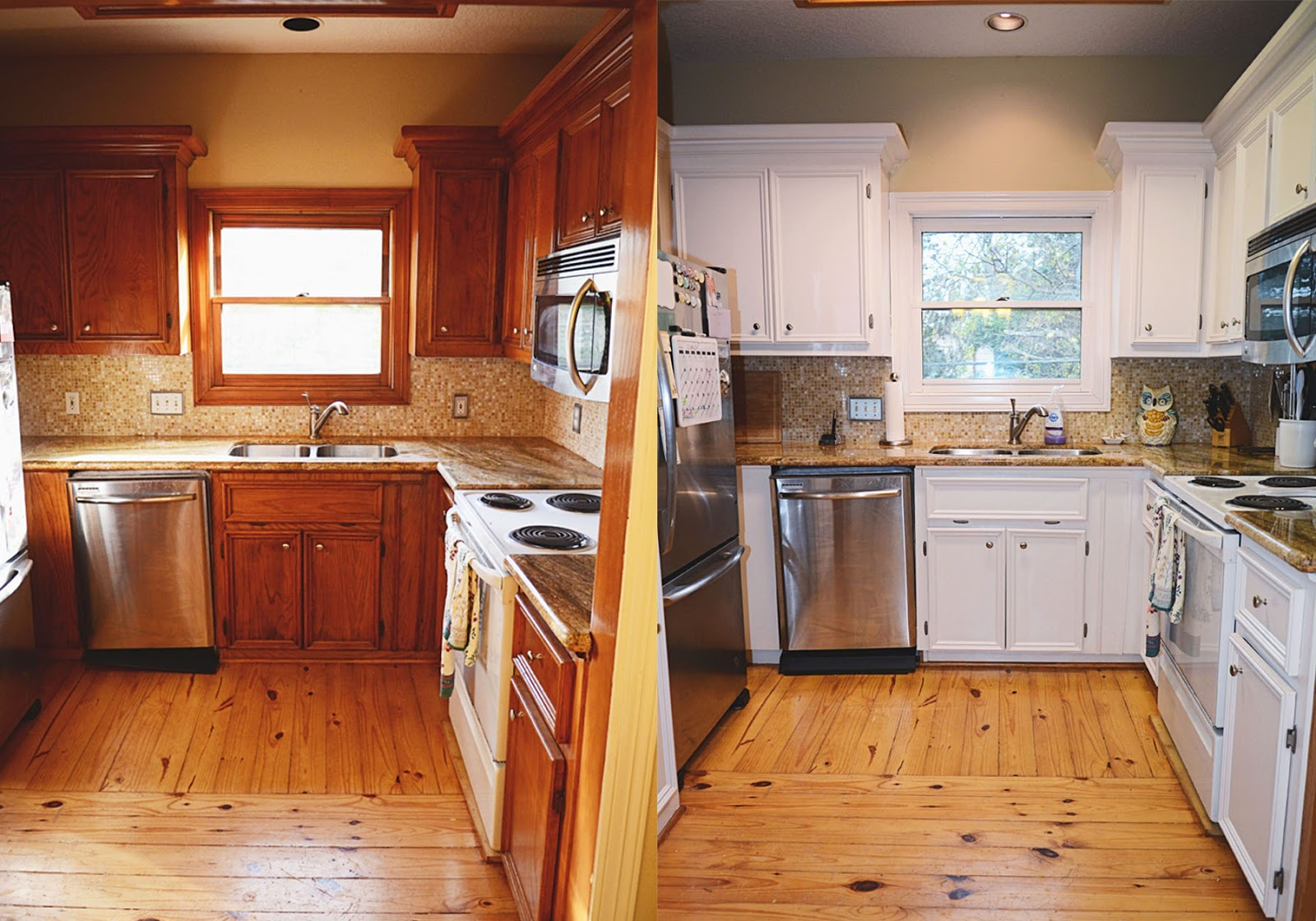 Kitchen RustOleum CabiTransformations Before and After