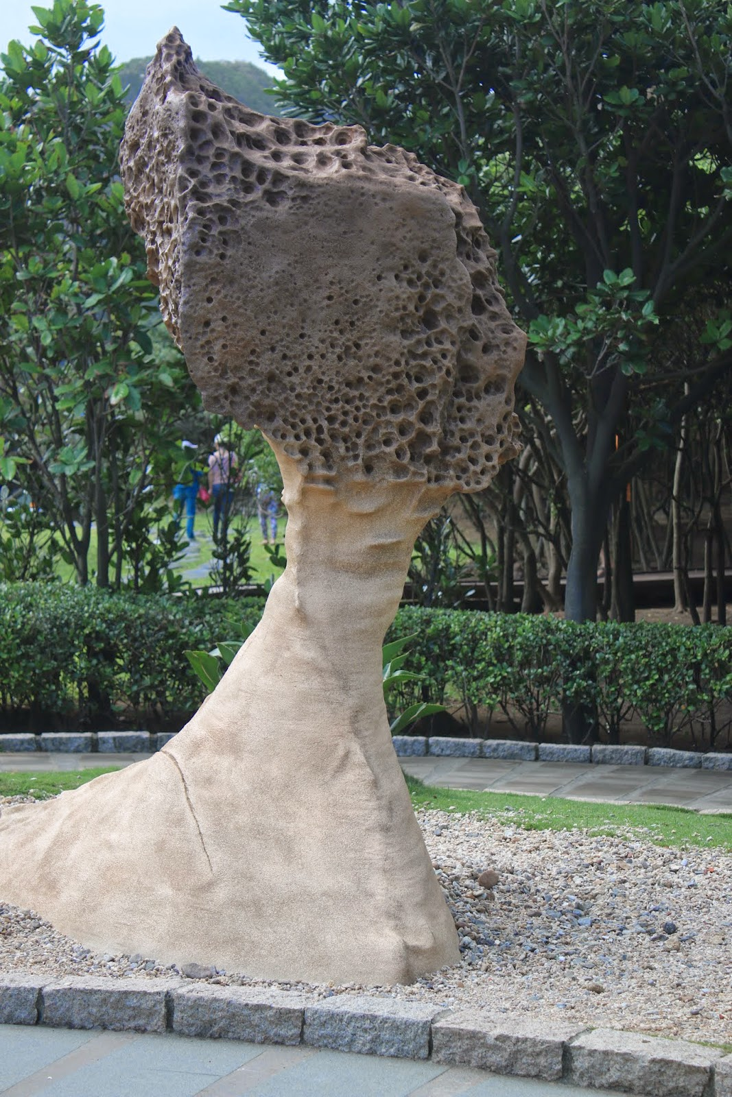 The artifact of Queen's Head at Yehliu Geopark at Wanli of New Taipei City of Taiwan