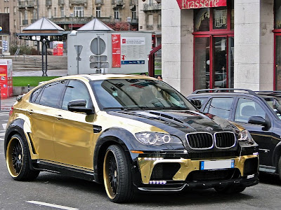 Gold BMW X6 Hamann Supreme Edition