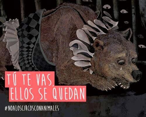 Rechazá el circo con animales. Boicot circuses with animals.