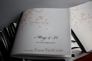 floral program book
